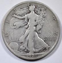 1921-S WALKING LIBERTY HALF FINE