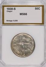 1938-S OREGON TRAIL COMMEN HALF DOLLAR PCI MS-66