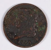 1828 (13 STARS) HALF CENT VG/F (C-1, R-3)