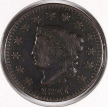 1827 LARGE CENT F/VF (N-11)