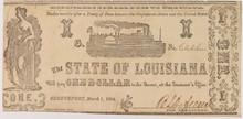 1864 $1 State of Louisana