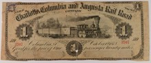 1873 $1 Columbia And Augusta Rail Road Co