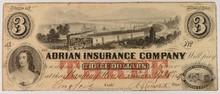 1859 $3 Adrian Insurance Company MI