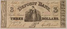 1862 $3 Deposit Bank AL