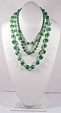 Lot of Two Vintage Necklaces in GREEN!