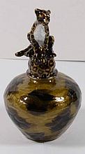 Vintage Ann Primrose Murano Collection Perfume Bottle (Cheetah)