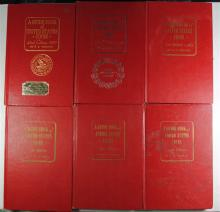 NICE COLLECTION of OLD RED BOOKS; 1960, 1961, 1962, 1964, 1972, 1989