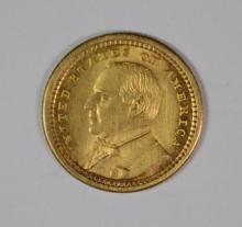 1903 McKINLEY GOLD DOLLAR LOUISIANA PURCHASE COMMEMORATIVE COIN, CH/GEM BU
