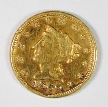 1860 CLARK, GRUBER AND CO. $2.5 GOLD EX JEWELRY