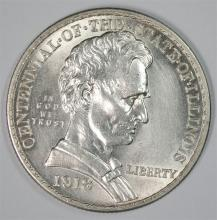 1918 LINCOLN COMMEMORATIVE HALF DOLLAR, GEM BU