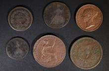 NEAT FOREIGN COIN LOT: