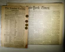 REVOLUTIONARY & CIVIL WAR NEWSPAPER LOT: