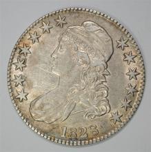 1828 CAPPED BUST HALF DOLLAR, AU