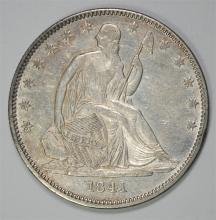 1841-O SEATED LIBERTY HALF DOLLAR, AU/BU