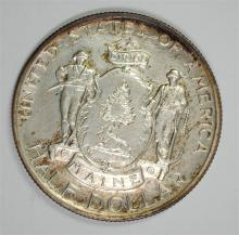 1920 MAINE COMMEMORATIVE HALF DOLLAR,  GEM BU