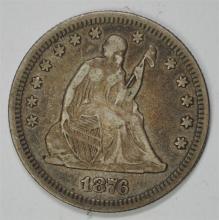 1876 SEATED QUARTER, VF++