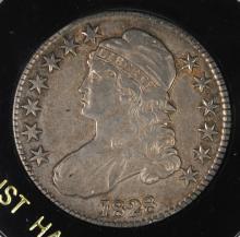 1828 BUST HALF DOLLAR, VF/XF