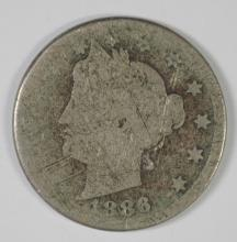 1886 LIBERTY NICKEL AG SCRATCHES KEY DATE