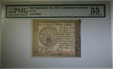 1778 $40 CONTINENTAL CURRENCY PMG 55  VERY SCARCE
