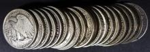 ROLL OF 1943/1944 WALKING LIBERTY  HALF DOLLARS VF+ a few have scratches