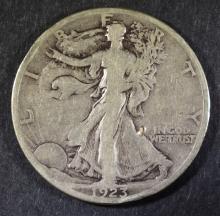 1923-S WALKING LIBERTY HALF DOLLAR, VF  KEY DATE