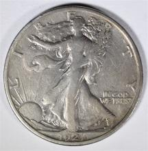 1921-S WALKING LIBERTY HALF DOLLAR VF-XF  RARE, HARD TO FIND THIS NICE