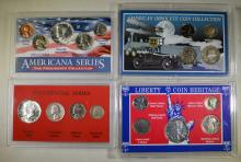 4 SET LOT: LIBERTY COIN HERITAGE (5 COINS),  PRESIDENTIAL SERIES (4 COINS),