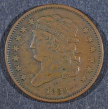 1832 HALF CENT - XF NICE