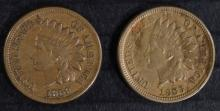 1859 XF & 1863 VF INDIAN HEAD CENTS
