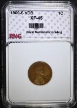 1909-S VDB LINCOLN CENT, RNG XF/AU  THE KEY TO THE  SERIES