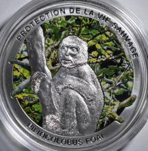 2013 République Centrafricaine 1000 FRANCS Proof Silver Coin Philocolobus Foai