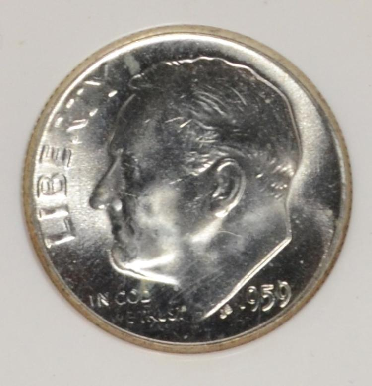 Lot 11 1959 ROOSEVELT DIME PCI MS 67 FULL TORCH LIST FOR 18000