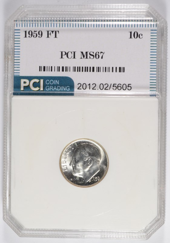 Lot 11 1959 ROOSEVELT DIME PCI MS 67 FULL TORCH LIST