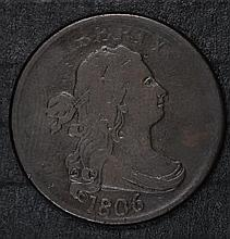 1806 HALF CENT, FINE