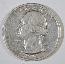 1932-S WASHINGTON QUARTER, VF  KEY DATE