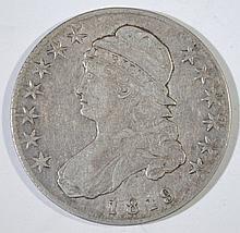 1819 CAPPED BUST HALF DOLLAR - VF/XF
