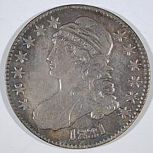 1831 CAPPED BUST HALF DOLLAR, XF