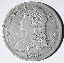 1836 CAPPED BUST HALF DOLLAR, FINE