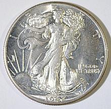 1942 WALKING LIBERTY HALF DOLLAR,  GEM BU