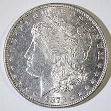 1878 7TF MORGAN SILVER DOLLAR, CHOICE BU