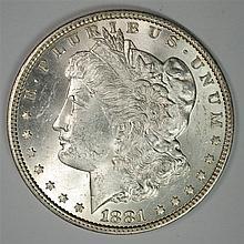 1881 MORGAN DOLLAR CH BU