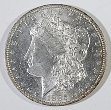1885-O MORGAN SILVER DOLLAR, CHOICE BU+