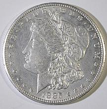 1885-CC MORGAN SILVER DOLLAR CH BU+  SEMI KEY