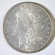 1898-S MORGAN SILVER DOLLAR, CHOICE BU  KEY DATE