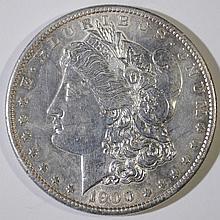 1900-S MORGAN SILVER DOLLAR, CHOICE BU  KEY DATE