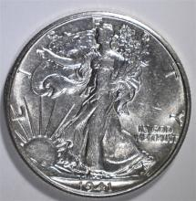 1941-S WALKING LIBERTY HALF DOLLAR,  CHOICE BU  KEY DATE