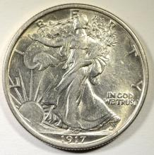 1917 WALKING LIBERTY HALF DOLLAR AU
