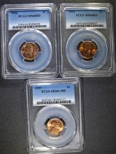 PCGS GRADED LINCOLN CENTS: 1937 MS-66+ AND 1941 & 1942 MS-66