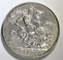1890 Queen Victoria Silver DRAGON SLAYER COIN