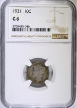 1921 Mercury Dime NGC  G 6